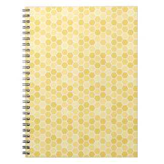 Seamless Honey Comb Pattern Note Book
