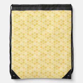 Seamless Honey Comb Pattern Cinch Bag