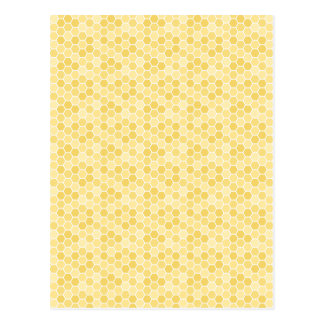 Seamless Honey Comb Pattern Postcard