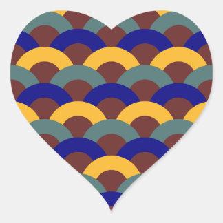 Seamless Japanese Pattern Heart Sticker