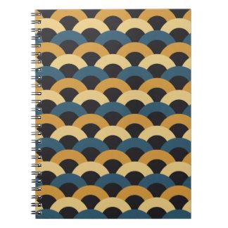 Seamless Japanese Pattern Spiral Notebook