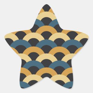 Seamless Japanese Pattern Star Sticker