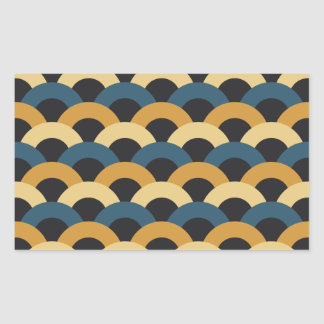 Seamless Japanese Pattern Rectangular Sticker