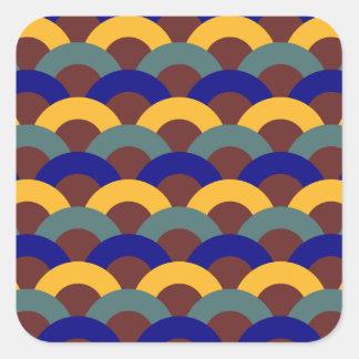 Seamless Japanese Pattern Square Sticker