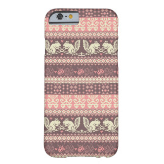 Seamless knitted pattern with squirrel barely there iPhone 6 case