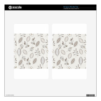 Seamless Leaf Hand Drawn Decal For Kindle Fire