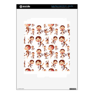 Seamless monkey decals for iPad 3