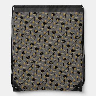 seamless musical-notes music-theme drawstring bag