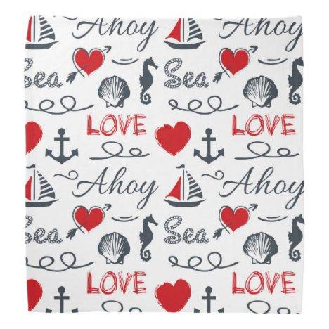 Seamless nautical pattern bandana