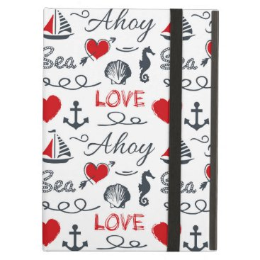 Seamless nautical pattern case for iPad air