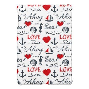 Seamless nautical pattern case for the iPad mini