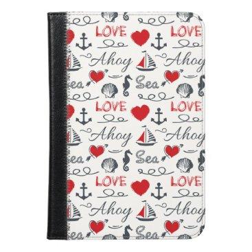 Seamless nautical pattern iPad mini case