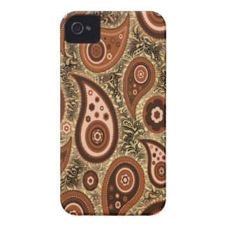 Seamless paisley with flower v3 iphone 4 covers
