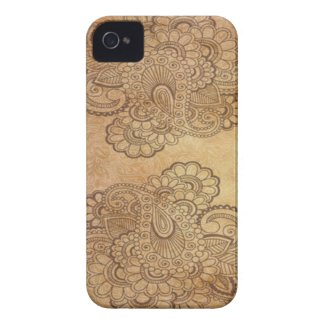 Seamless paisley with flower v8 case-mate iphone 4 cases