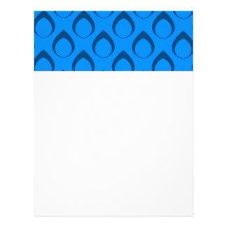 Seamless Pattern 04,blue Personalized Letterhead