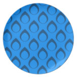 Seamless Pattern 04,blue Party Plate