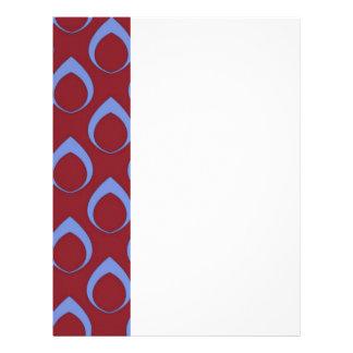 Seamless Pattern 04,blue red Customized Letterhead