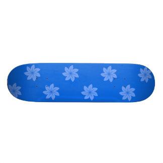 Seamless Pattern 05 blue Custom Skateboard