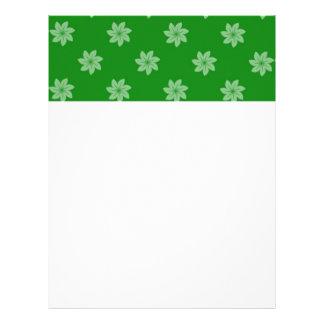 Seamless Pattern 05 green Letterhead Template