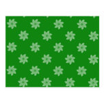 Seamless Pattern 05 green Post Cards