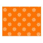 Seamless Pattern 05,orange Post Cards