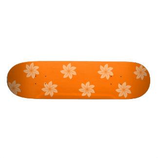 Seamless Pattern 05 orange Skate Boards