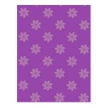 Seamless Pattern 05 purple Post Cards