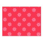 Seamless Pattern 05,red Postcard