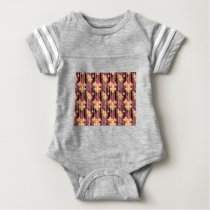seamless-pattern baby bodysuit