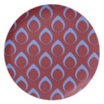 Seamless pattern,blue red,04 plate