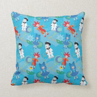 Seamless pattern clowns throw pillow