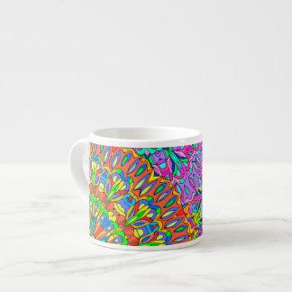 Seamless pattern mandala. espresso cup