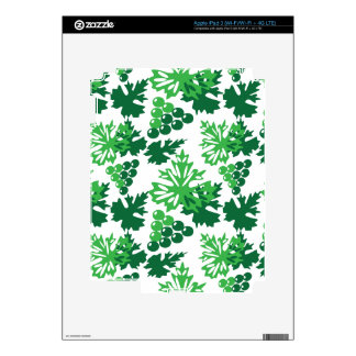 seamless pattern of leaves with grapes iPad 3 skins