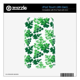 seamless pattern of leaves with grapes iPod touch 4G decal