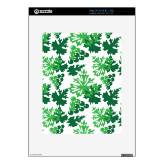 seamless pattern of leaves with grapes skins for the iPad