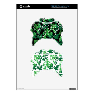 seamless pattern of leaves with grapes xbox 360 controller skin