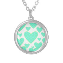 Seamless Pattern Silver Plated Necklace