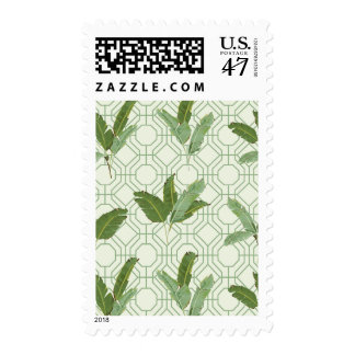 Seamless Pattern. Tropical Palm Leaves Postage