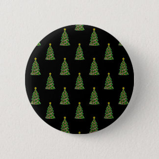 Seamless pattern with Christmas trees Button