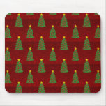 Seamless pattern with Christmas trees Mouse Pad
