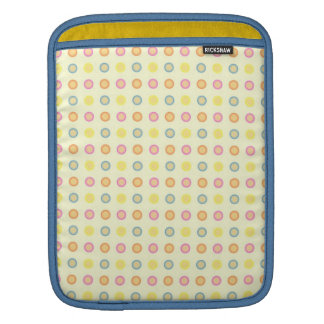 Seamless Pattern with Circles and Dots Sleeve For iPads