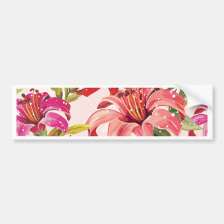 Seamless pattern with Lily Bumper Sticker