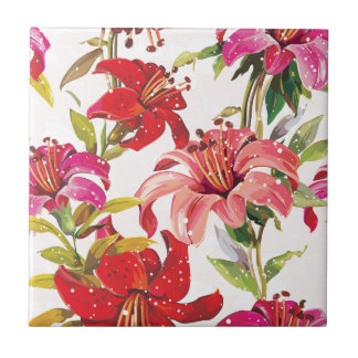 Seamless pattern with Lily Tile