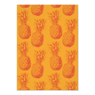 Seamless pattern with pineapples card
