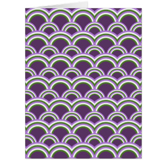 Seamless pattern with rainbows cards
