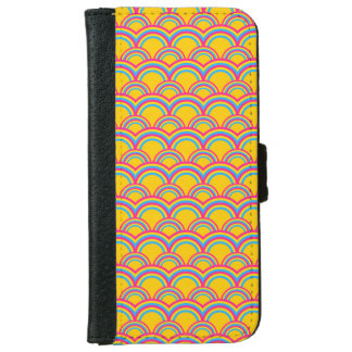 Seamless pattern with rainbows iPhone 6 wallet case