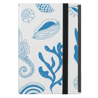 Seamless pattern with sea shells case for iPad mini