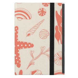 Seamless pattern with sea shells iPad mini cover