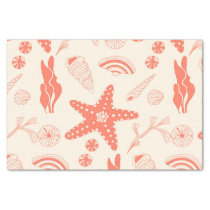 Seamless pattern with sea shells tissue paper