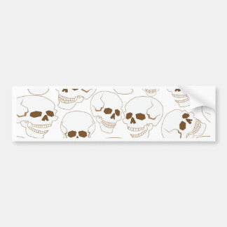 seamless pattern with skulls 3.2 bumper sticker